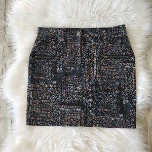 Club Monaco Floral Cord Mini skirt